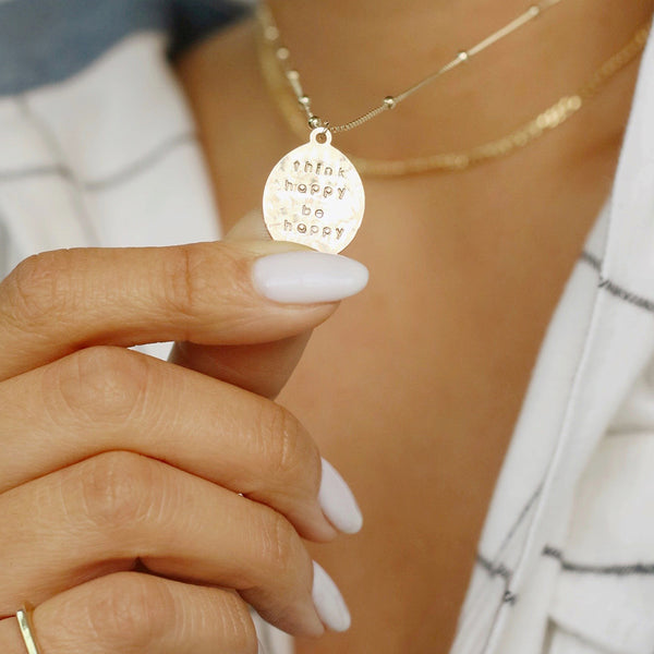 Think Happy Be Happy Necklace