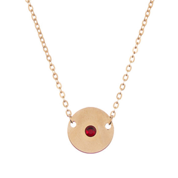 Taudrey Mini Coin Birthstone Necklace