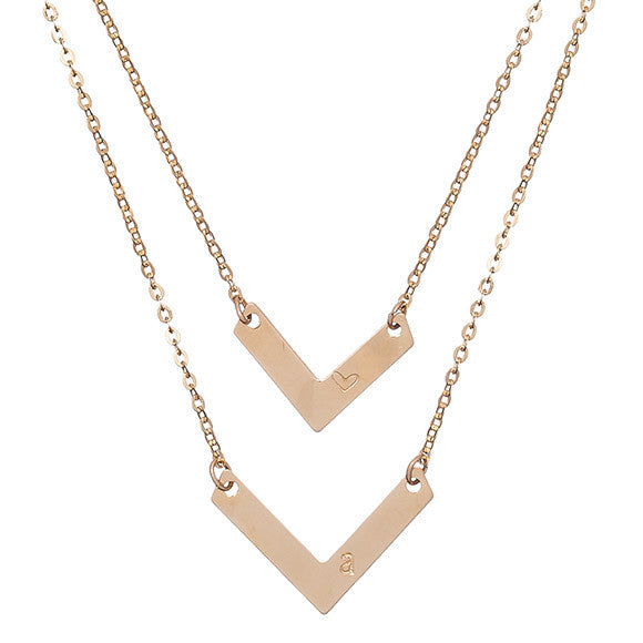 Taudrey Double Chevron Necklace