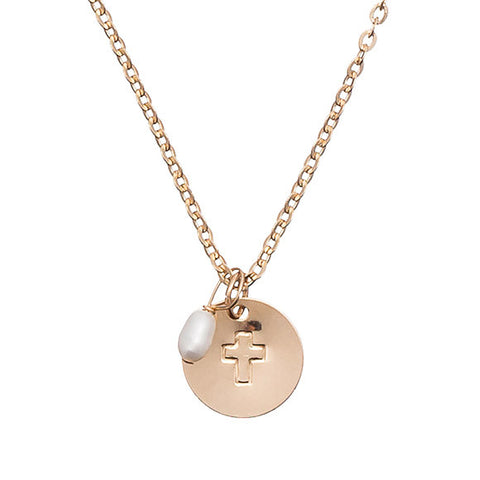 Taudrey Kids Communion Cross Necklace