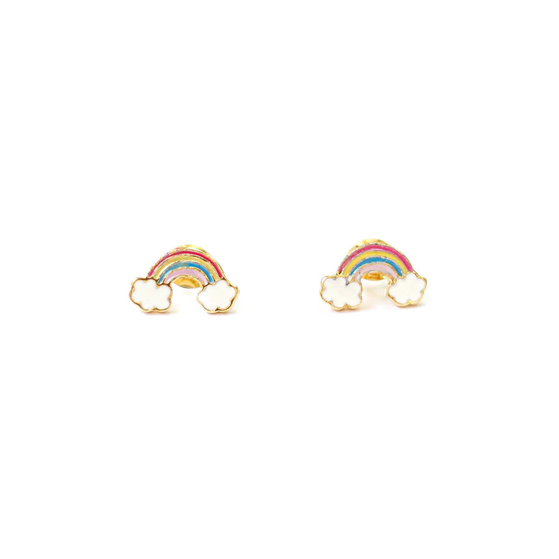 taudrey double rainbow colorful kids stud earrings