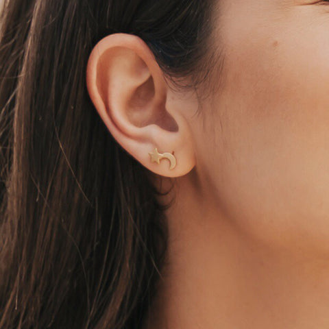 taudrey celestial star moon mix matched stud earrings by daniela ramirez blogger nanys klozet