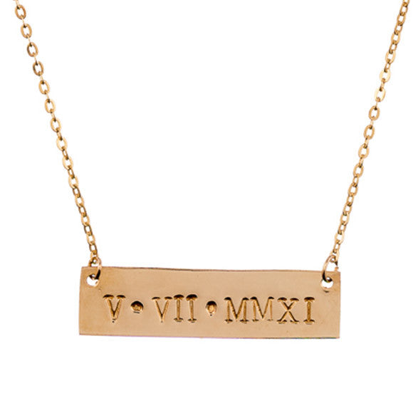 Taudrey Roman Numeral Plate