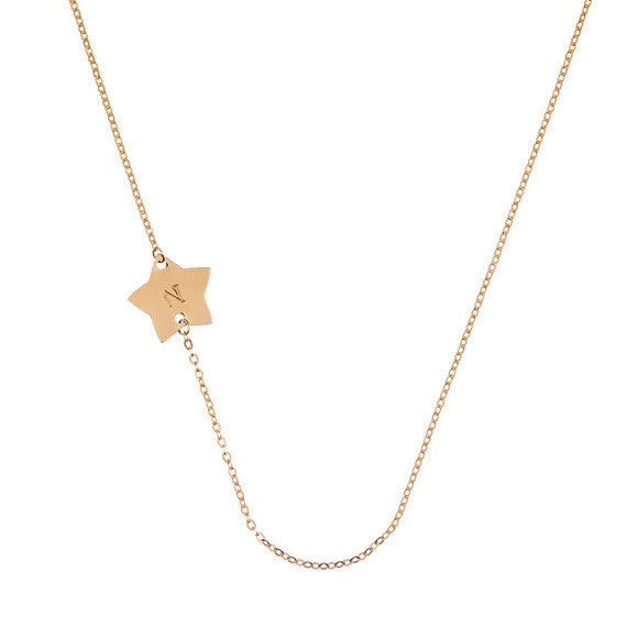 Taudrey Side Star Necklace