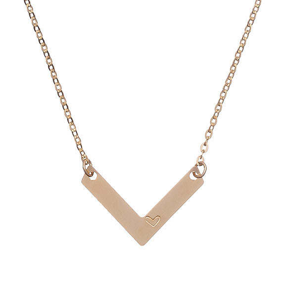 Taudrey Single Chevron Necklace