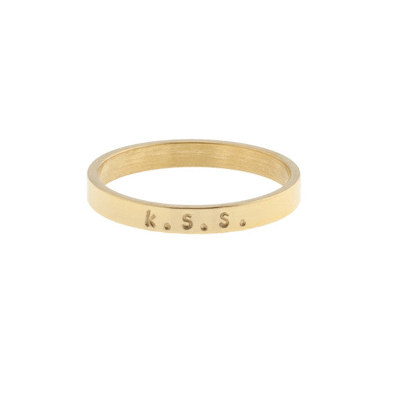 tadurey ready to mingle gold single personalized ring band