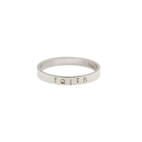 taudrey ready to mingle silver single personalized ring band