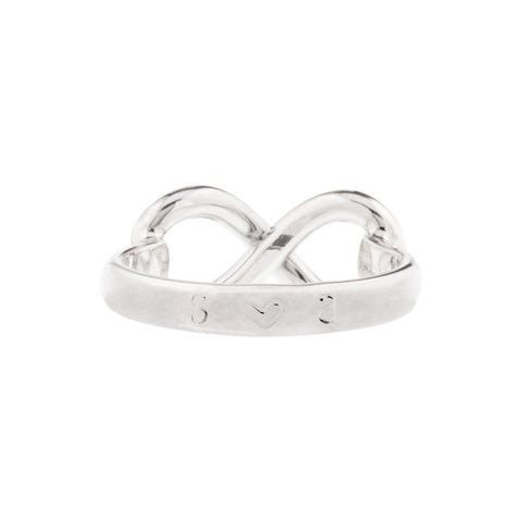 Taudrey Infinity Ring Back View
