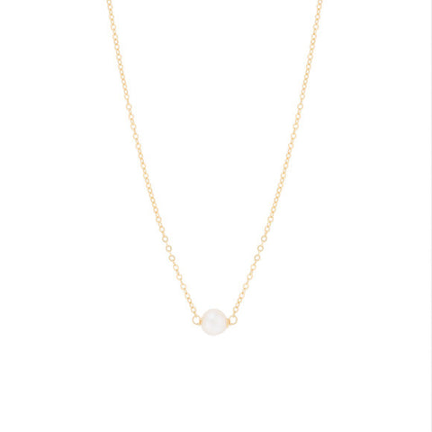 taudrey Pearl of wisdom gold choker necklace with pearl