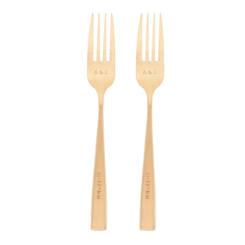 Taudrey Anniversary Forks