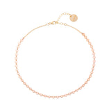 taudrey handcrafted dainty gold micro charm choker necklace gold and rose gold