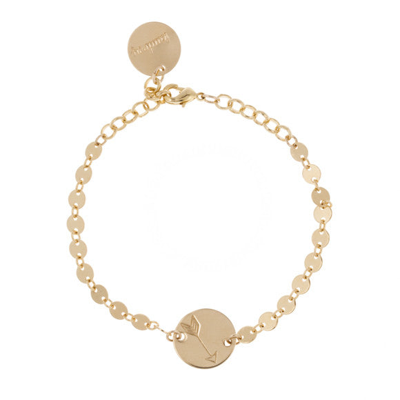 taudrey ball and chain gold micro charm chain bracelet personalized coin charm
