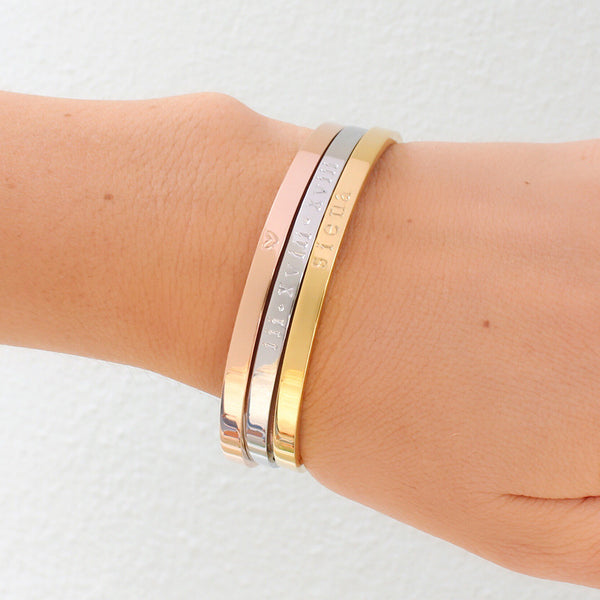 taudrey personalized three tone bangle set