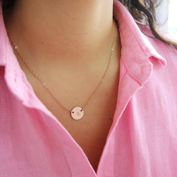 taudrey breast cancer awareness jewelry personalized hand stamped ribbon necklace