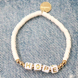 taudrey be bold white beaded bracelet personalized girl power letter block beads