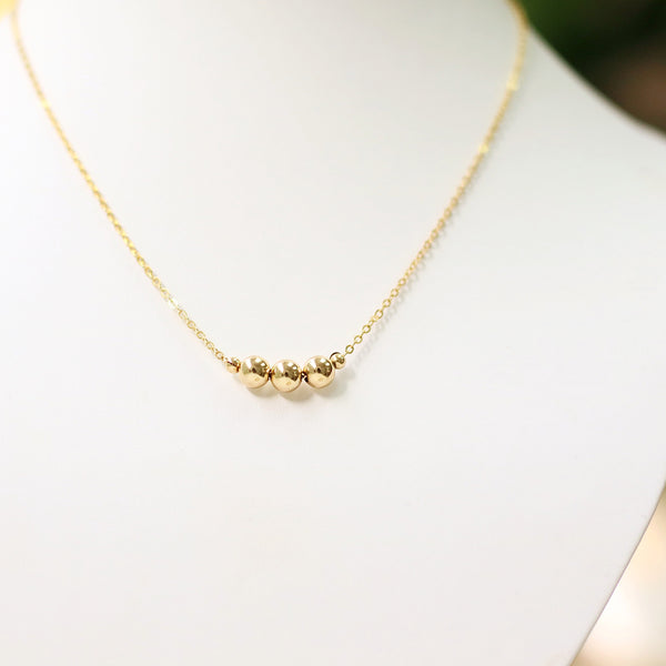 taudrey best all around gold beads chain necklace