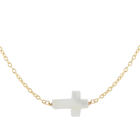 taudrey blessed necklace gold pearl cross