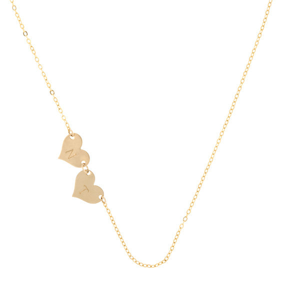 taudrey destint thompson truly destiny necklace personalized heart charms gold