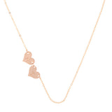 taudrey destint thompson truly destiny necklace personalized heart charms rose gold