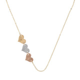 taudrey destint thompson truly destiny necklace personalized heart charms three tone gold rose gold silver