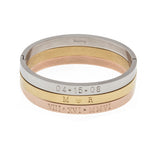 Taudrey Blogger Collection The Fashionista's Diary Set personalized bangle set gold rose gold silver