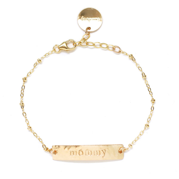 taudrey tenley leopold collab mommy and me personalized plate/bar bracelets
