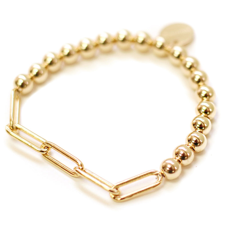 taudrey chain of command bracelet large gold beads thick gold chain