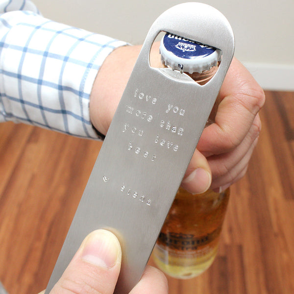 taudrey dad father's day gift sterling silver fully personalized beer bottle opener