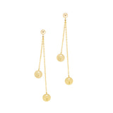 taudrey clean sweep personalized duster earrings gold ball stud