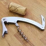 taudrey stainless steel silver personalized hand stamped cloud wine corkscrew