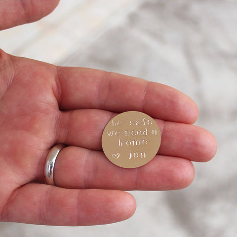 taudrey fathers day gift fully personalized gold keepsake coin charm