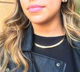 Gold Taudrey Collar Necklace Closeup