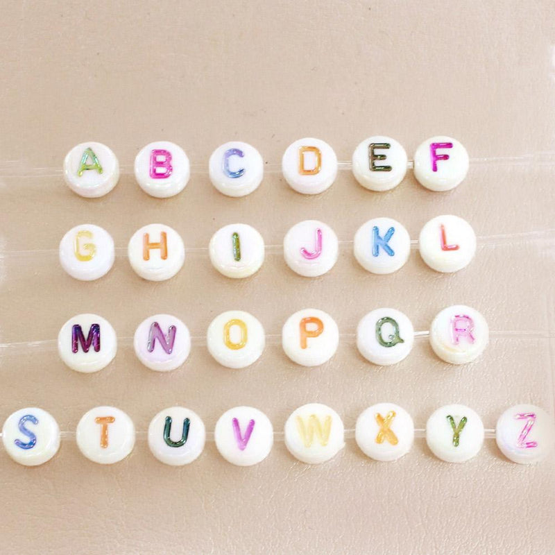 taudrey kids colorful letter block beads