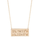 taudrey handcrafted personalized gold bar plate necklace coordinates