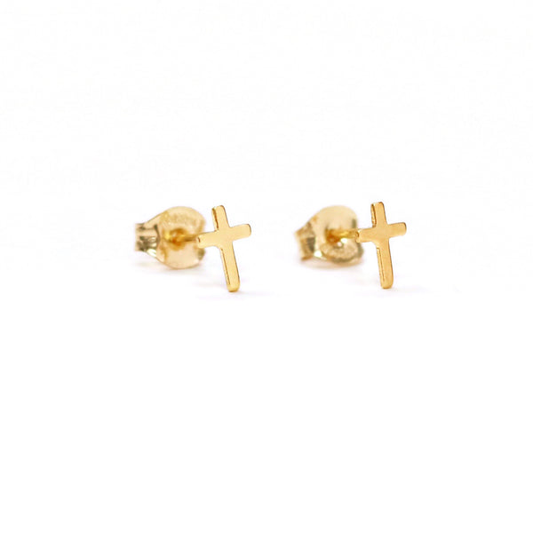 taudrey faith first cross stud earrings tenley leopold collab