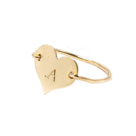 taudrey cross your heart ring gold heart handcrafted personalized ring