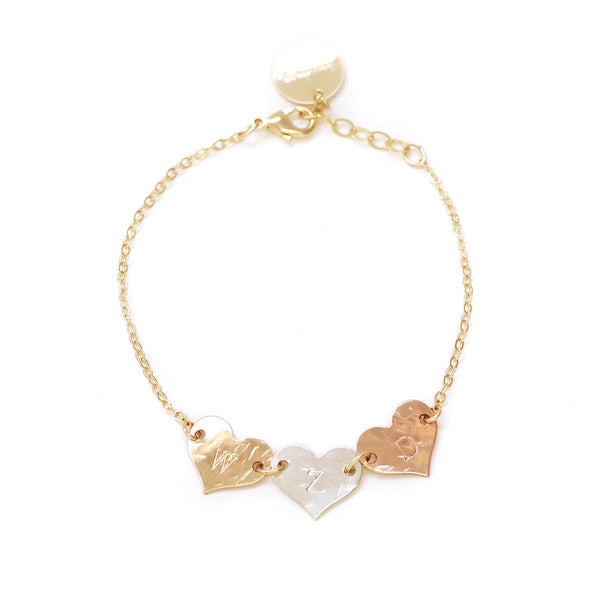 taudrey destiny thompson collab bracelet personalized heart charm bracelet