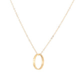 taudrey carrie and aiden necklace long style gold chain with personalized ring