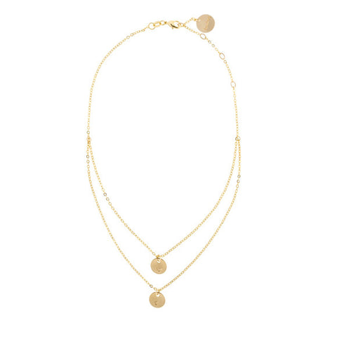 taudrey Double Booked choker necklace Gold Chain Layered