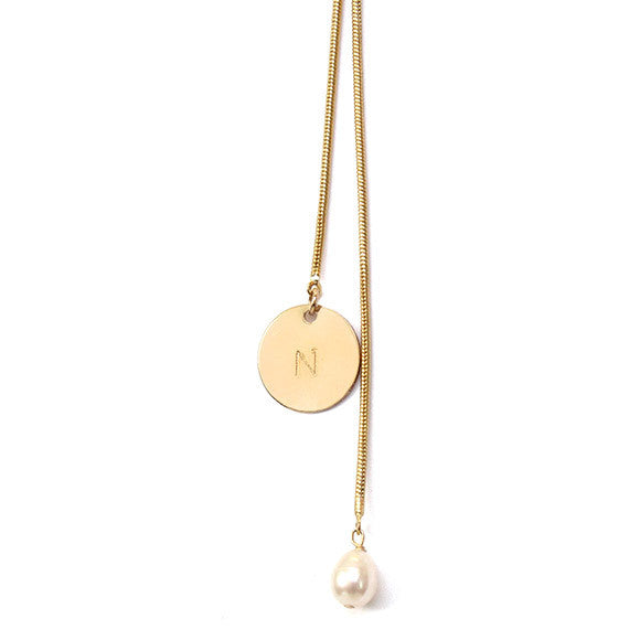 taudrey electric slide necklace long slide gold personalized charm circle coin