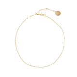 taudrey fine line rose gold necklace gold thin