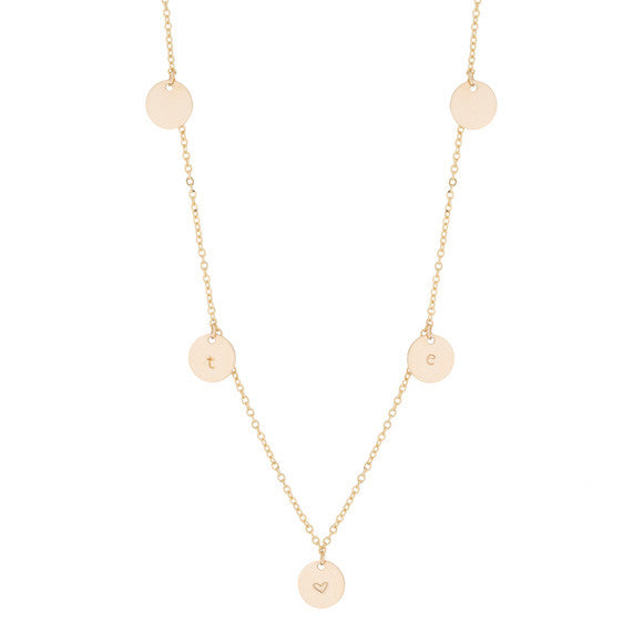 taudrey five golden rings short necklace five gold charms
