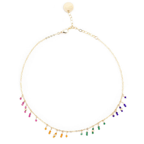 taudrey flying colors choker dainty gold necklace gemstone crystal bead accents