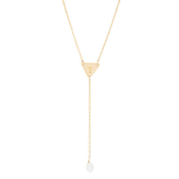 taudrey follow the pearl y chain gold necklace with pearl