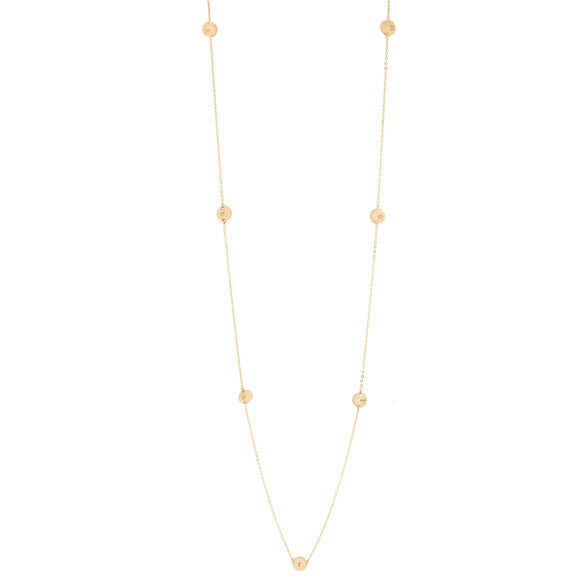 taudrey full circle long style necklace personalized gold charms
