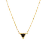 taudrey get to the point necklace onyx styled black