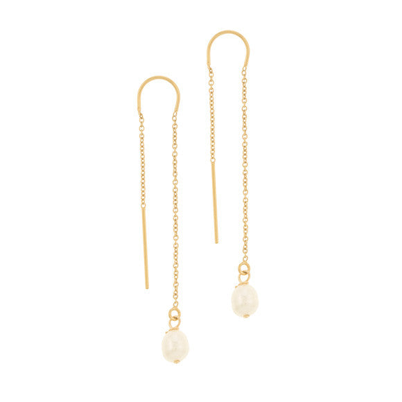 taudrey girl with the pearl earring pull through gold pearl accent