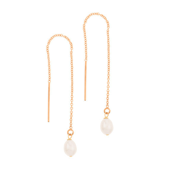 taudrey girl with the pearl earring pull through rose gold pearl accent
