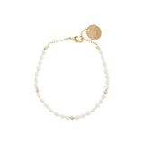 taudrey girls love pearls bracelet dainty pearl gold beaded