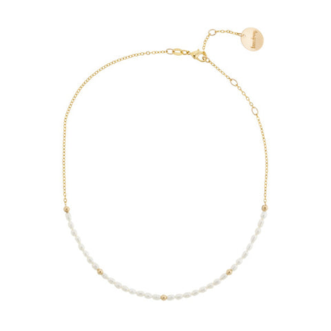 taudrey girls love pearls choker necklace dainty pearls